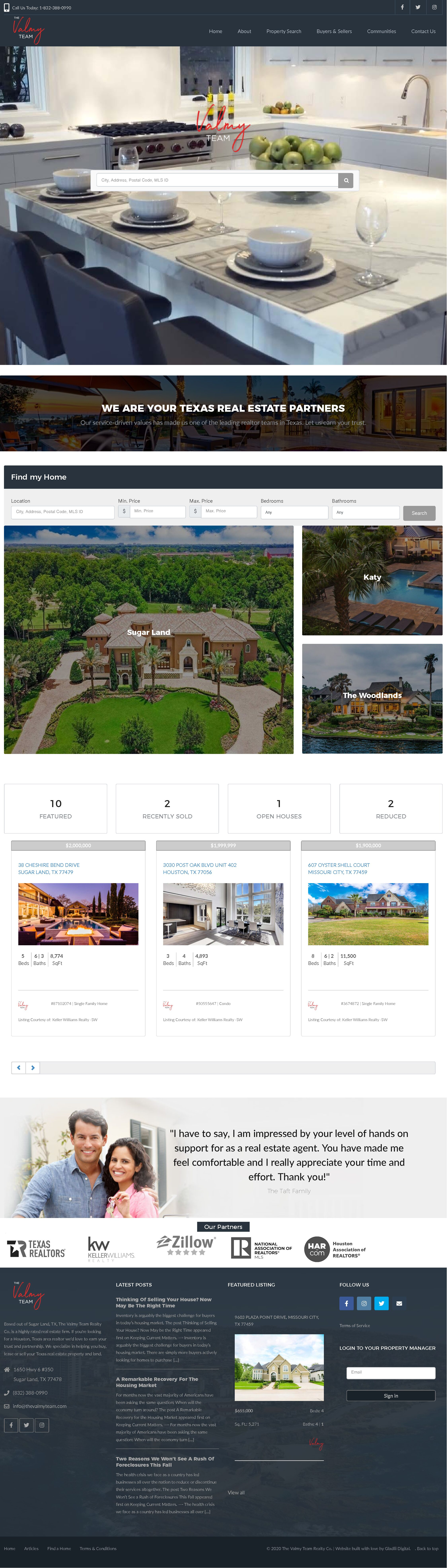 Website Design for Realtor with IDX MLS