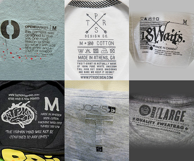 Clothing tags design