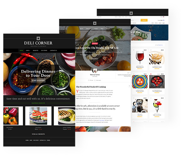 Website Design for Restaurant Food Business