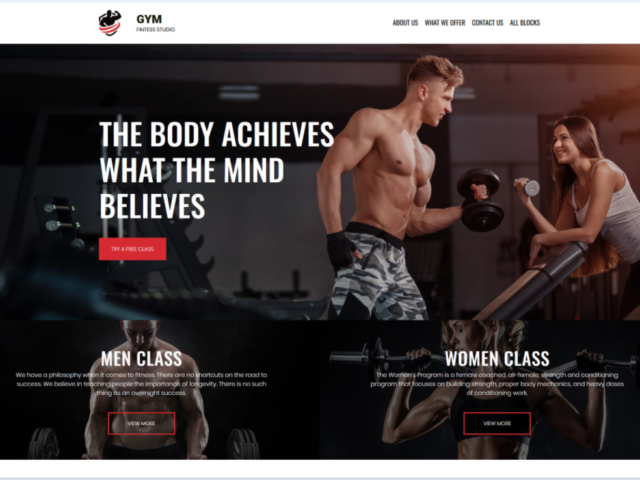 Website for Gym Fitness Business