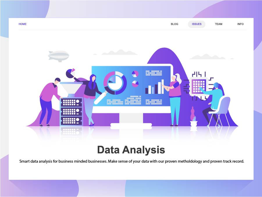 Website for data analytics company