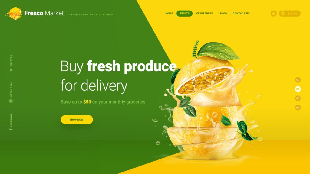 Website for Local Grocery Store